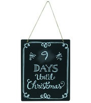"Fab Lab 8""x10"" Christmas Countdown Chalkboard with Jute Hanger, , hi-res"