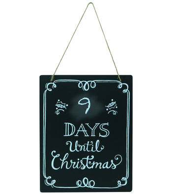 "Fab Lab 8""x10"" Christmas Countdown Chalkboard with Jute Hanger"