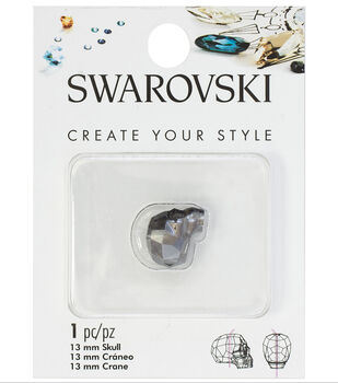 105892149 Swarovski Create Your Style 13mm Skull Bead-Silver Night