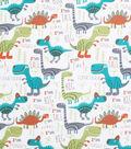 Novelty Cotton Fabric -Dinosaurs Roar