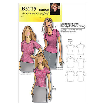 Butterick Women's Top-B5215