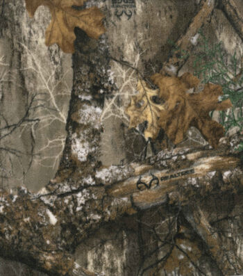 Realtree Fleece Fabric 58''-Edge