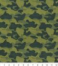 Snuggle Flannel Fabric 42\u0022-Multi Green Camo