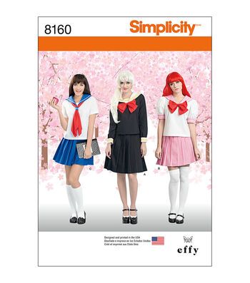 Simplicity Pattern 8160 Misses' Effy Sews Cosplay Costume-Size D5 (4-12)