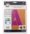 FolkArt 30 pk 7\u0027\u0027 Alphabet & Monogram Paper Stencils-Bold Font