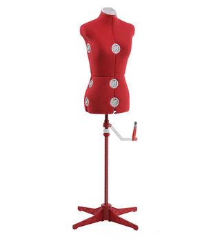 Singer Small/Medium Adjustable Dress Form-Red
