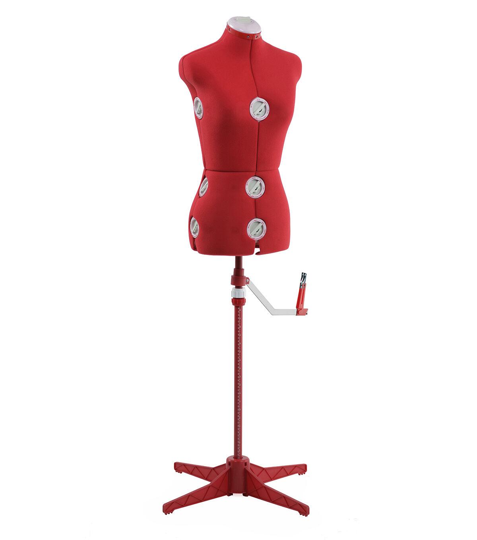 Singer Small/Medium Adjustable Dress Form Red