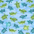 Super Snuggle Flannel Fabric-Turtle in Water