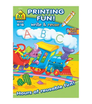 Write And Reuse Workbook-Printing Fun!