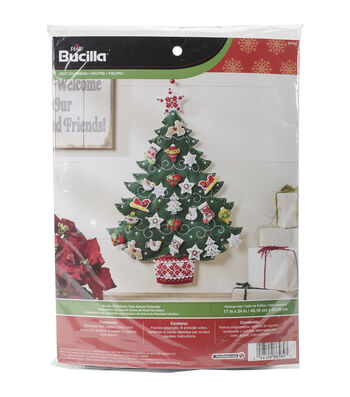 Bucilla Nordic Tree Advent Calendar Felt Applique Kit
