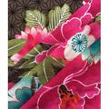 Modern Apparel Knit Fabric 57\u0027\u0027-Pink & Aqua Modern Floral on Olive