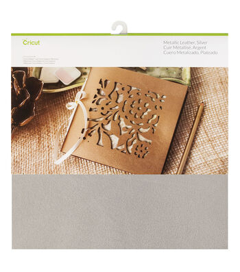 Cricut Metallic Leather-Silver
