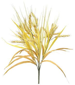 Blooming Autumn 20'' Wheat & Onion Grass Bush-Beige & Brown
