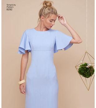 Simplicity Pattern 8292 Misses'/Miss Petite Dresses-Size R5 (14-22)