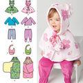Simplicity Pattern 1564A Infants\u0027 Sportswear Outfits-Size XXS-L