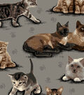 Snuggle Flannel Fabric -Photo Real Kitties