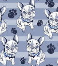 Snuggle Flannel Fabric 42\u0022-Bulldog Blue Stripe