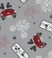 Disney Mickey & Minnie Mouse Cotton Fabric -Vintage Firework of Love, , hi-res