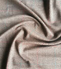 Refined Ponte Knit Fabric 58\u0022-Black & Tan Menswear Plaid