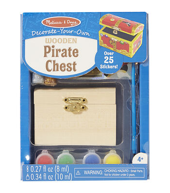 Melissa & Doug Decorate-Your-Own Wooden Pirate Chest