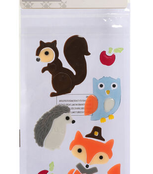 Simply Autumn Gel Clings-Woodland Critters