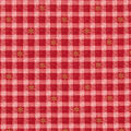 Christmas Cotton Fabric-Snowflake Red Plaid Glitter