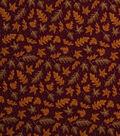Holiday Showcase Harvest Cotton Fabric 43\u0022-Tossed Leaves