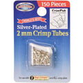 The Bead Buddy 150 pk 2 mm Silver Plated Crimp Tubes