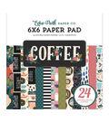 Echo Park Double-Sided Paper Pad 6\u0022X6\u0022 24/Pkg-Coffee, 12 Designs/2 Each
