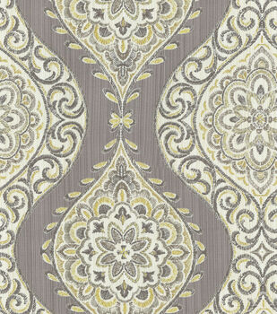 "Waverly Lightweight Decor Fabric 54""-Moonlit Medallion/Mineral"