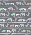 Nursery Flannel Fabric 42\u0027\u0027-Safari Animals Lines