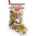 Design Works Counted Cross Stitch Kit-Santa & Sleigh