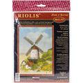 RIOLIS 8.25\u0027\u0027x11.75\u0027\u0027 Stamped Cross Stitch Kit-Windmill