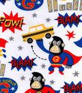 Snuggle Flannel Fabric -Super Gorilla