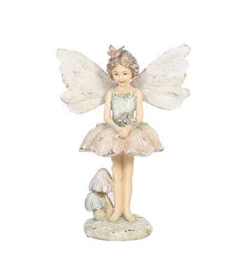 Hello Spring Gardening Fairy Holding Flower Statuary