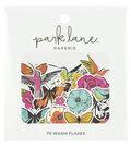 Park Lane Washi Flakes 70/Pkg-Butterflies & Flowers