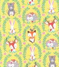 Snuggle Flannel Fabric 42\u0027\u0027-Forest Friends