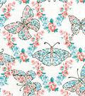 Snuggle Flannel Fabric -Wildflower Butterflies