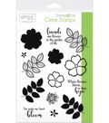 Gina K Designs StampnFoil 14 pk Clear Stamps-Where Flowers Bloom