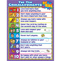 Carson-Dellosa The Ten Commandments for Kids Chart 6pk