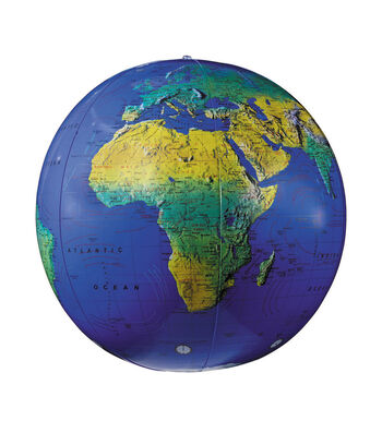 "Inflatable Topographical Globe, 12"", Pack of 3"