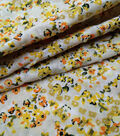 Speciality Cotton Fabric -Yellow Ditsy Floral