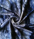 Knit Print Fabric 58\u0027\u0027-Blue & Black Spikey Tie Dye