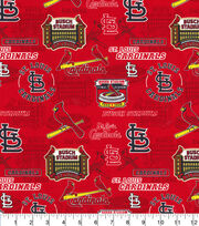 St. Louis Cardinals Cotton Fabric-Stadium, , hi-res