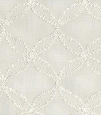 "Williamsburg Upholstery Fabric 52""-Tanjib Emb/Snow"