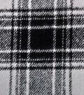 Plaiditudes Brushed Cotton Apparel Fabric -Gray & Black Plaid