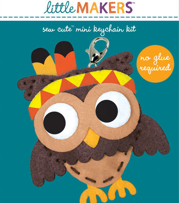 Little Makers Sew Cute Mini Keychain Kit-Native Owl