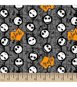 Halloween Cotton Fabric -Jack Head Toss