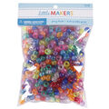 Little Makers Pony Beads-Mixed Clear Glitter