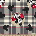 Disney Mickey & Minnie Fleece Fabric-Plaid